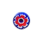 Moretti Blue & Red Flower Milli
