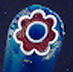 Moretti Red & Blue Flower Milli