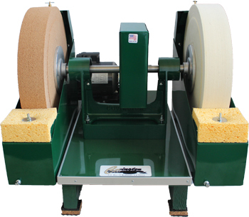 "16"" Cork & Felt Glass Polisher 110V"