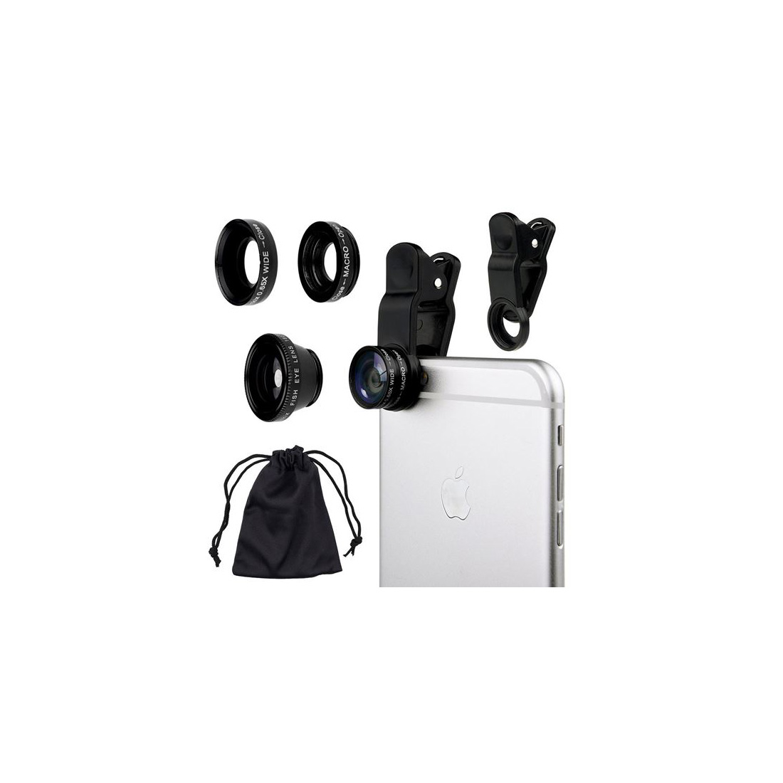 Aura Lens Phone Camera Lens - Black