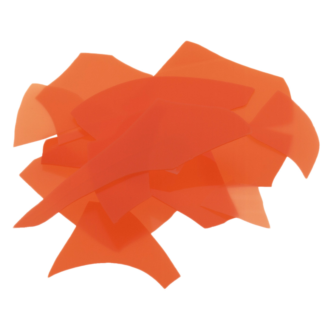 Bullseye Orange Opal Confetti