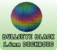 BLACK 1.6mm BULLSEYE DICHROIC