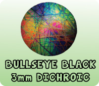 BLACK 3mm BULLSEYE DICHROIC