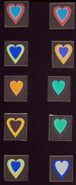 Dichroic Heart Images MEDIUM 90COE