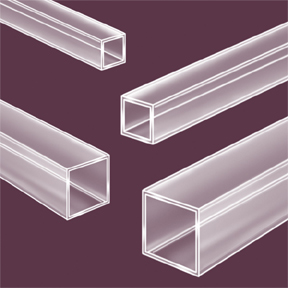 4mm Quartz Square Tubing