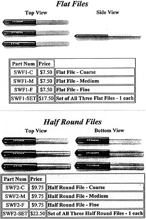DIAMOND HALF ROUND FILES-FINE GRIT