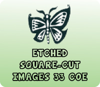 ETCHED SQUARE-CUT IMAGES 33 COE
