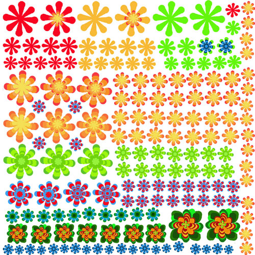 Flower Power Enamel Decals