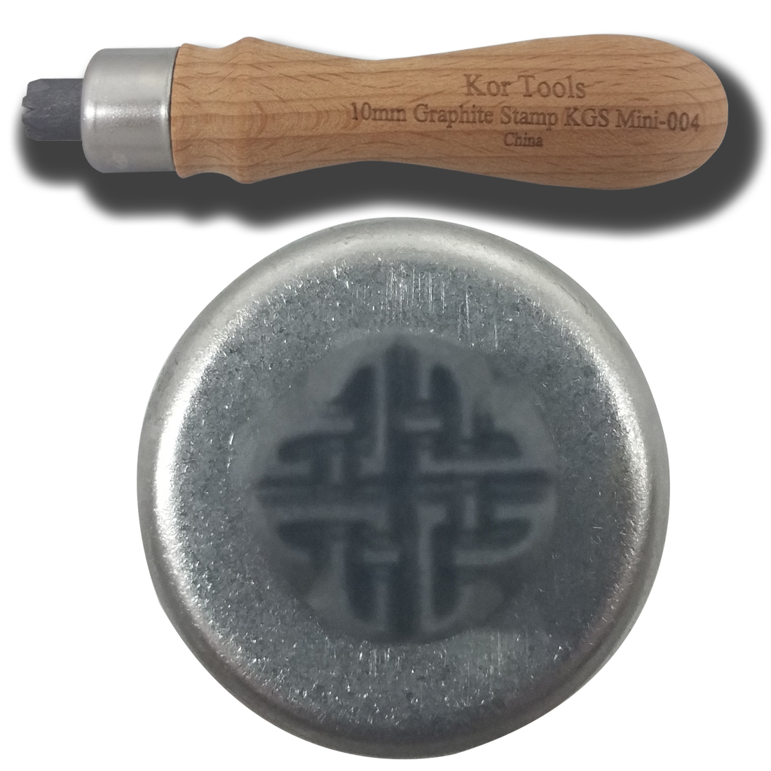 10mm Graphite Celtic Knot 1 Stamp
