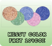 MESSY COLOR FRIT 104COE