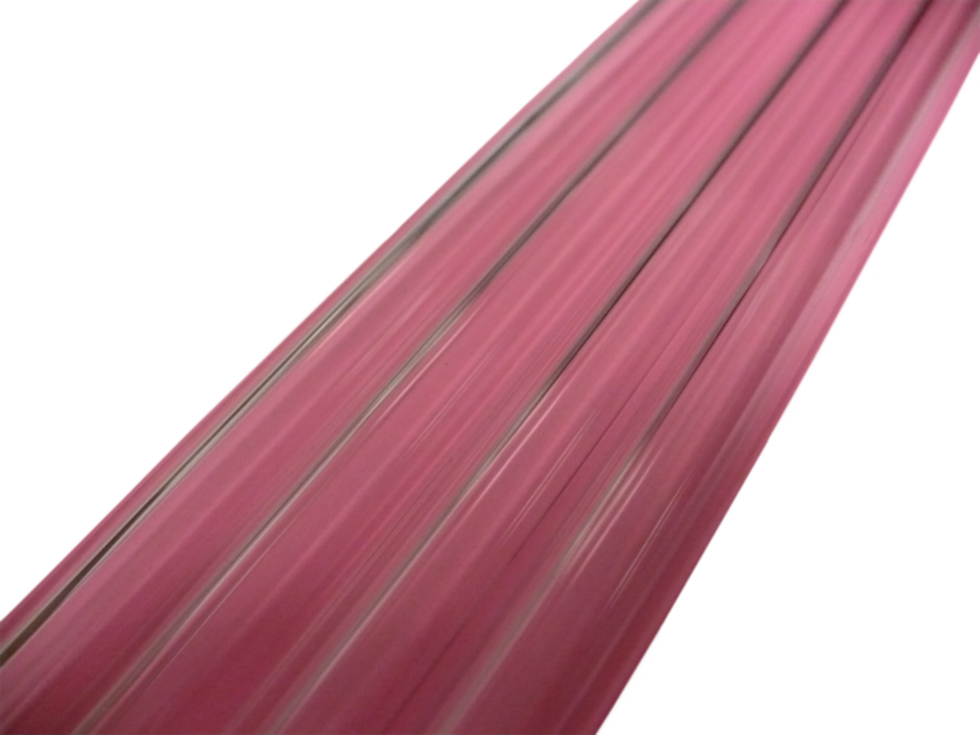 Asian 12mm Transparent Pink Tubing