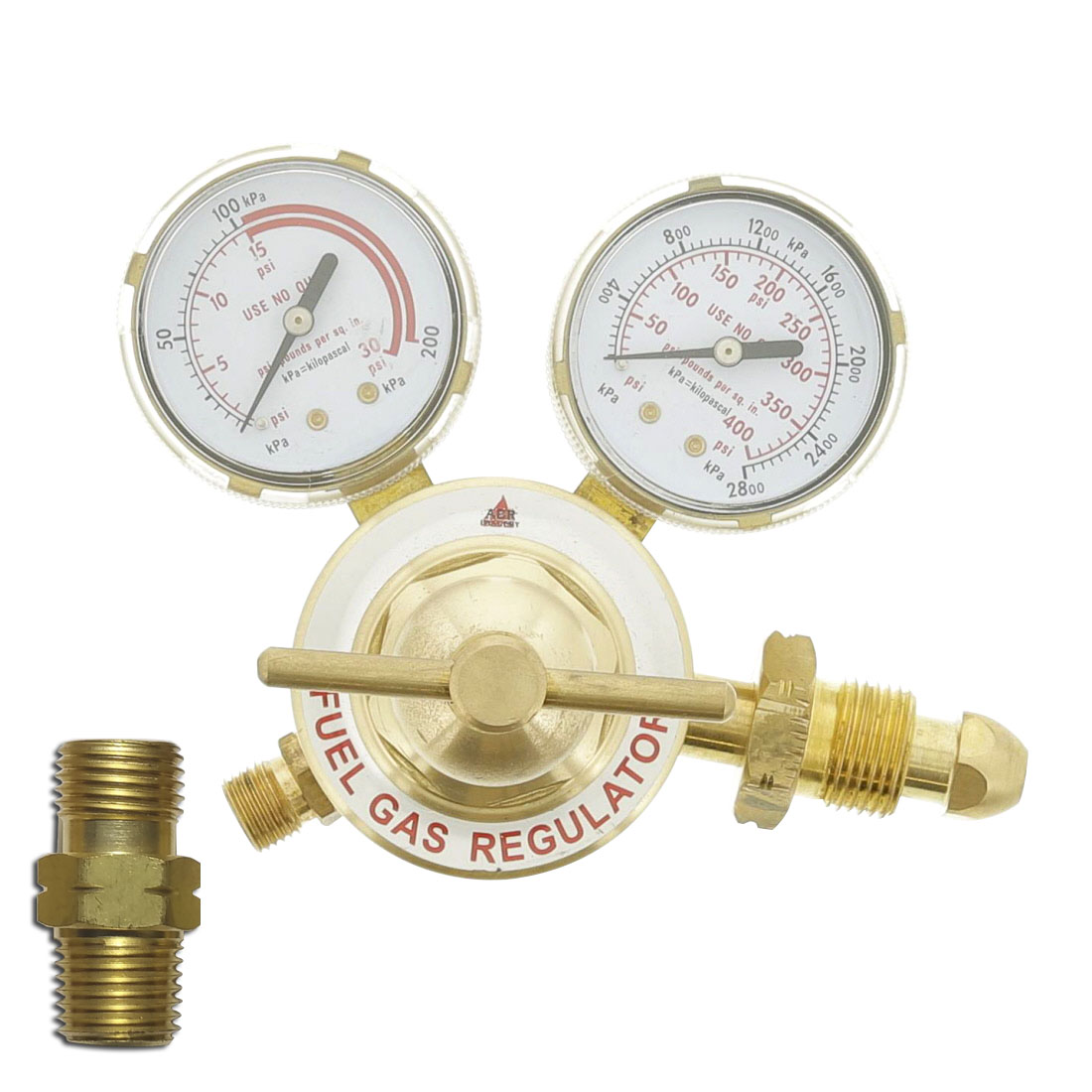 "Inline Propane Regulator w/ 1/4"" B"