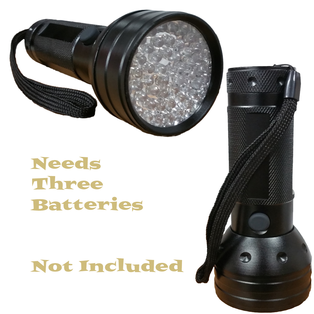 Black UV Flashlight