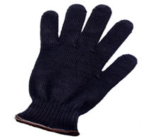 "8"" Black Kevlar Gloves (pr)"