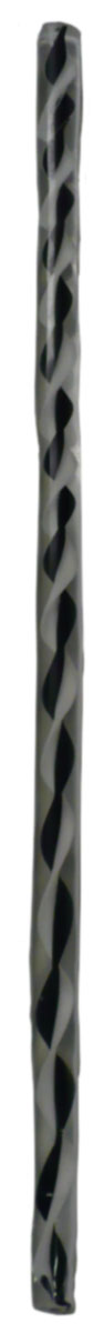 Encased Black and White Twist Cane