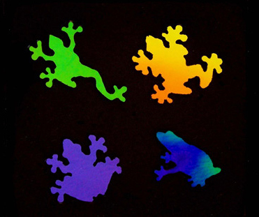 Dichroic Frog Embellishments LG 90