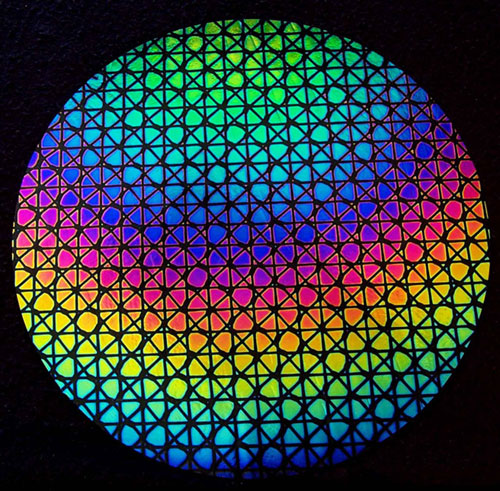 90coe THIN BLACK Rainbow Geodesic