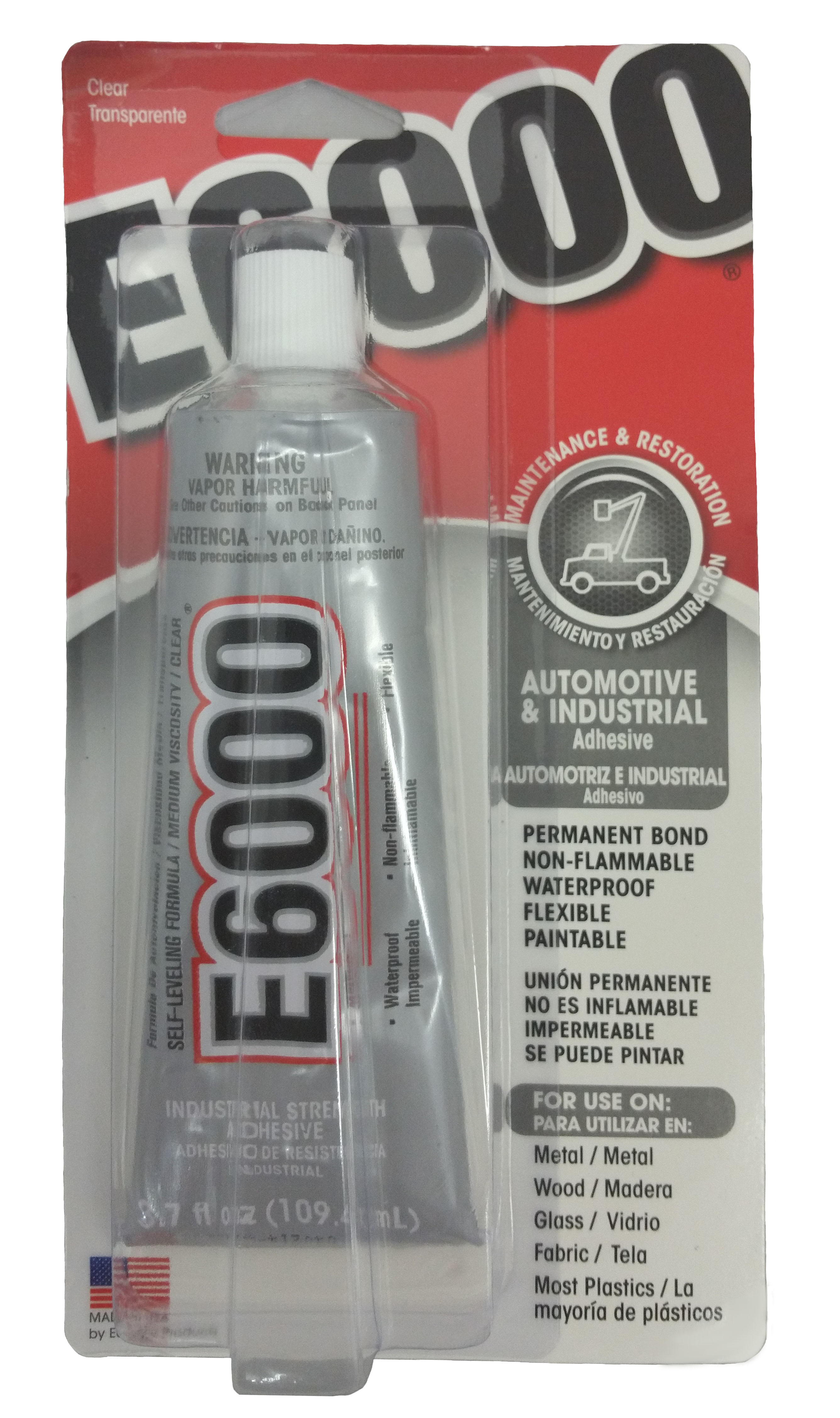 E6000 Extreme Glass Cement - 3.7oz