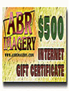 ABR Gift Certificate - $500