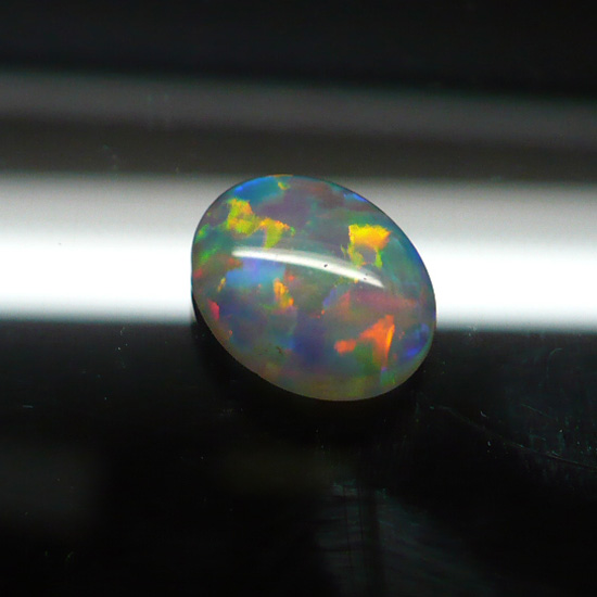 11 x 9mm White Oval Opal