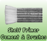 SHELF PRIMER CEMENT & BRUSHES