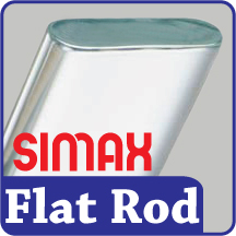 Simax 8mm x 4.2mm Flat Rod