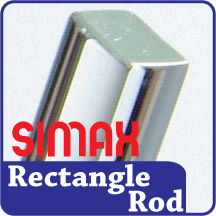 Simax 6mm x 8mm Rectangular Rod