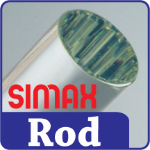 Simax 12.7mm Clear Boro Rod