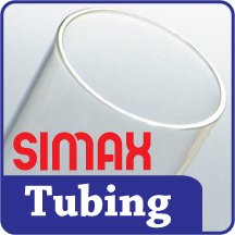 Simax 50.8mm x 3.2mm Clear Tubing