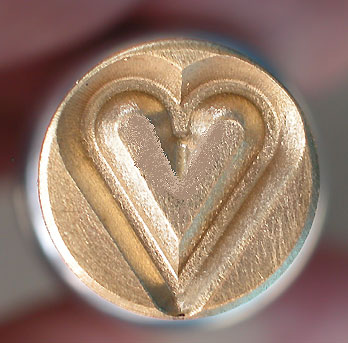 Brass Heart Textured Stamp