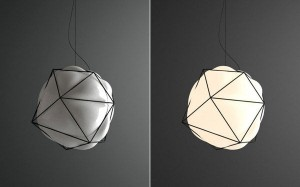 geometric bubble with light